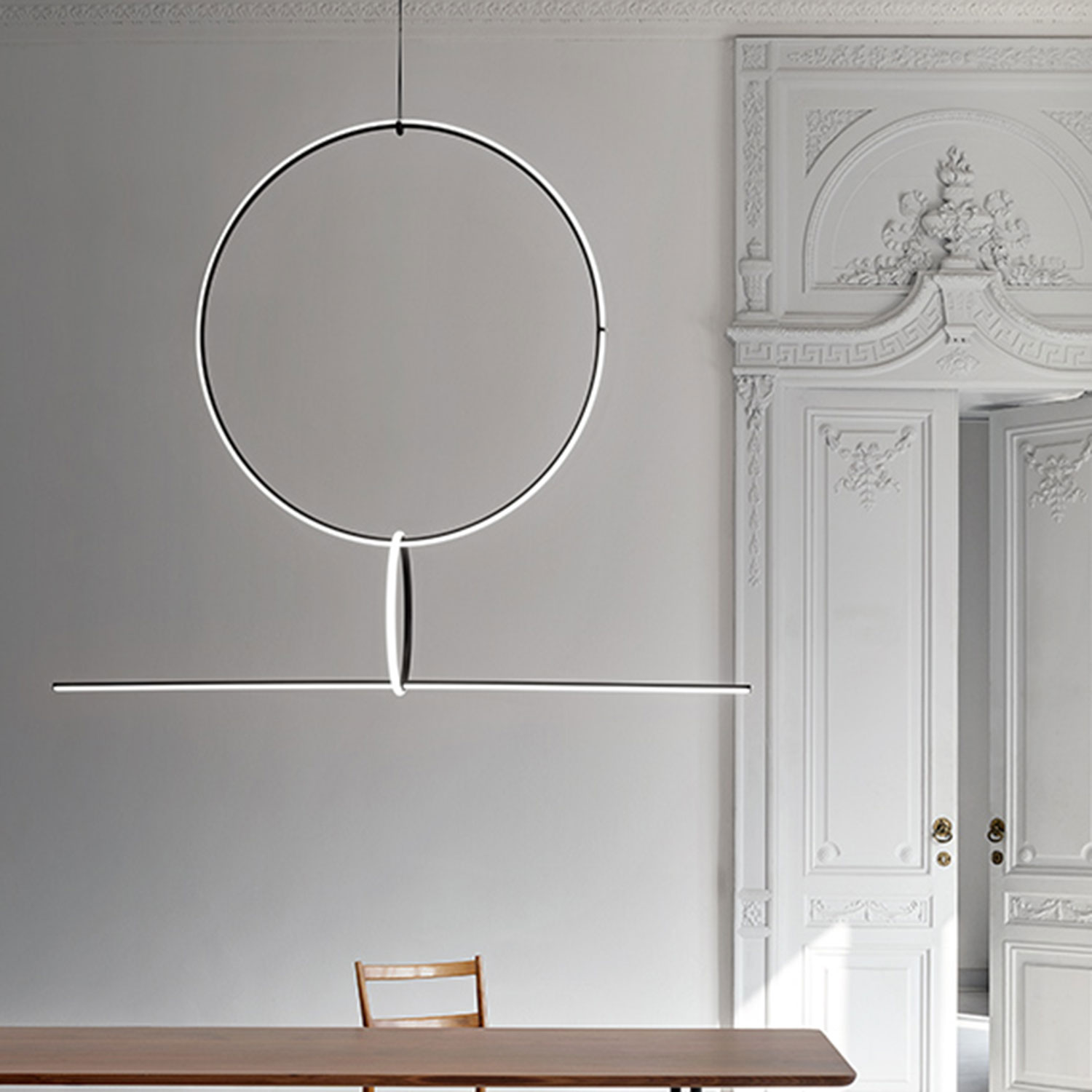 arrangement-light fixture flos pendant light - mannheim