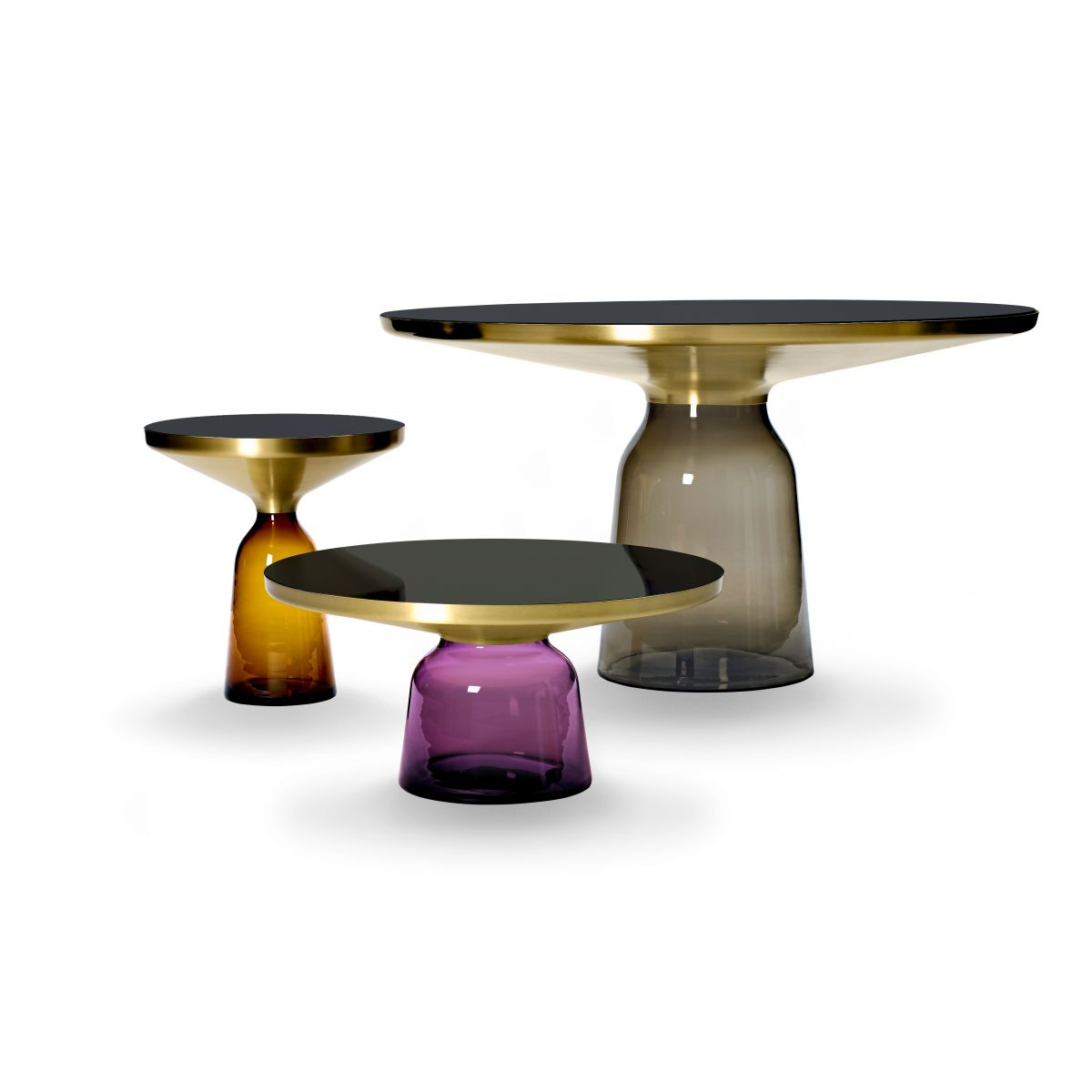 ClassiCon-bell-side-table-orange-bell-coffee-table-violet-bell-high-table-smoke-grey-group
